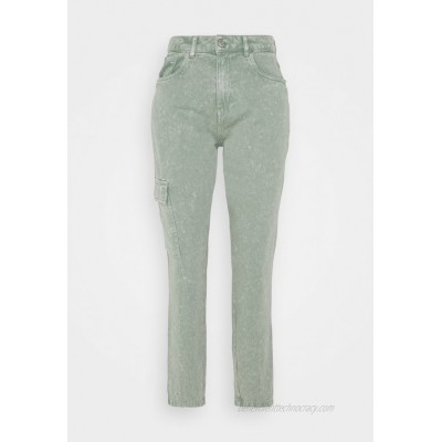 Noisy May NMMABEL MOM POCKET ANKLE PANTS Relaxed fit jeans slate gray/grey