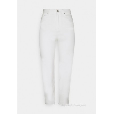 Vila VISTRAY SANSI CROPPED Relaxed fit jeans cloud dancer/offwhite