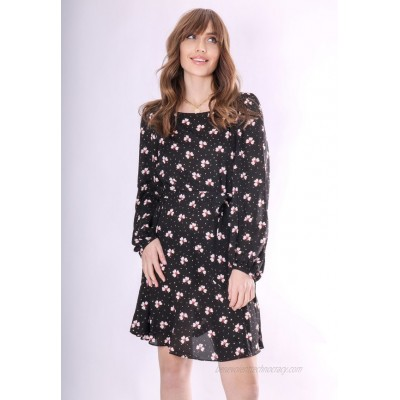 Traffic People Day dress one colour/mottled black
