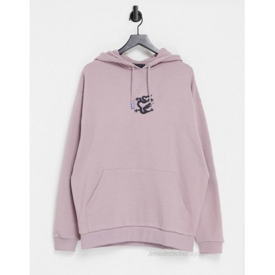 DESIGN oversized hoodie with small chest print
