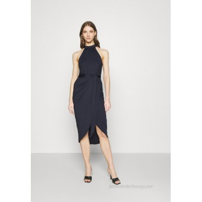 Nly by Nelly HIGH NECK PLEAT DRESS Cocktail dress / Party dress navy/dark blue