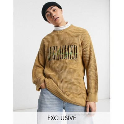 Reclaimed Vintage Inspired the knitted fisherman sweater with brand embroidery