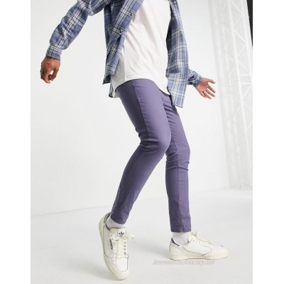 DESIGN super skinny cropped chinos in blue