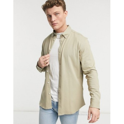 Selected Homme jersey shirt in beige