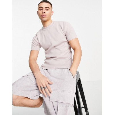 River Island high neck t-shirt in pink